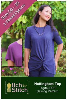 digital nottingham top sewing pattern