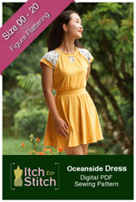 digital oceanside dress sewing pattern