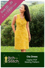 digital oia dress sewing pattern