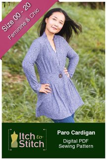 digital paro cardigan sewing pattern