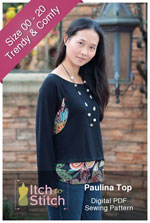 digital paulina top sewing pattern