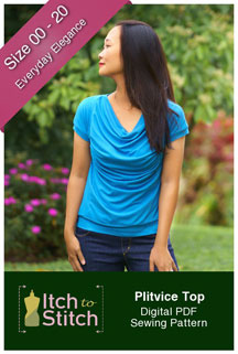 digital plitvice top sewing pattern