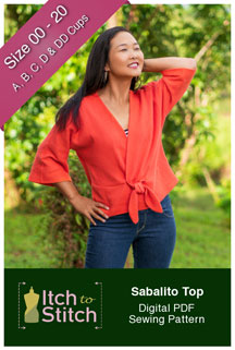digital sabalito top sewing pattern