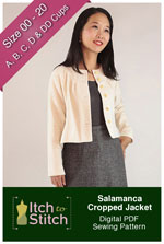 digital salamanca cropped jacket sewing pattern