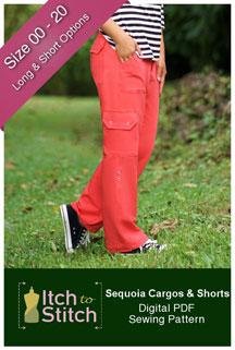 digital sequoia cargos + shorts sewing pattern