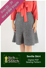 digital seville skirt sewing pattern