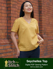 digital seychelles top sewing pattern
