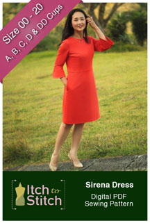 digital sirena dress sewing pattern