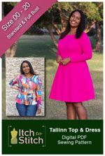 digital tallinn top + dress sewing pattern