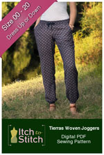 digital tierras woven joggers sewing pattern