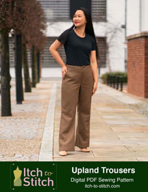 digital upland trousers sewing pattern