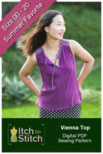 digital vienna tank sewing pattern