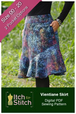 digital vientiane skirt sewing pattern
