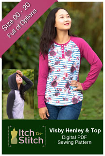 digital visby henley + top sewing pattern