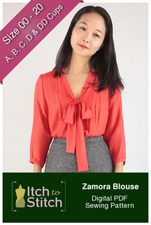 digital zamora blouse sewing pattern