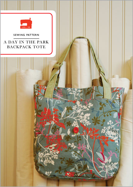 Digital A Day In The Park Backpack Tote Sewing Pattern | Shop ...