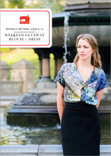 digital weekend getaway blouse + dress sewing pattern