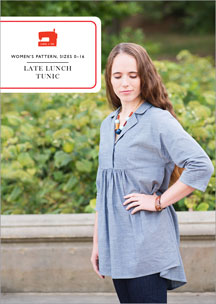 digital late lunch tunic sewing pattern