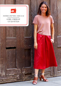 digital girl friday culottes sewing pattern