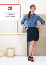 city stroll wrap skirt sewing pattern
