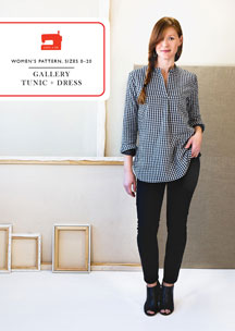 digital gallery tunic + dress sewing pattern
