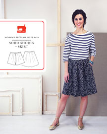 digital soho shorts + skirt sewing pattern