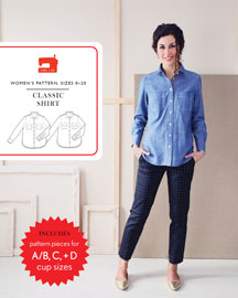 digital classic shirt sewing pattern