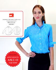 digital recital shirt sewing pattern