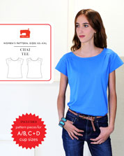 digital chai tee sewing pattern