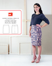 digital extra-sharp pencil skirt sewing pattern