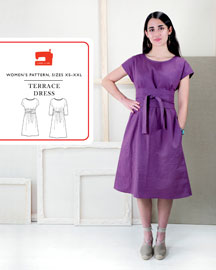 digital terrace dress sewing pattern
