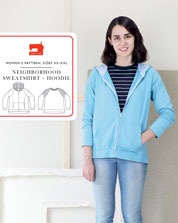 digital neighborhood sweatshirt + hoodie sewing pattern
