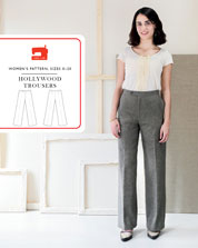 digital hollywood trousers sewing pattern