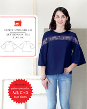 afternoon tea blouse sewing pattern