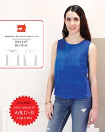 digital breezy blouse sewing pattern