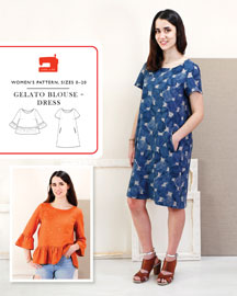 digital gelato blouse + dress sewing pattern