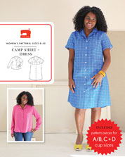 digital camp shirt + dress sewing pattern