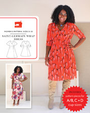digital saint-germain wrap dress sewing pattern
