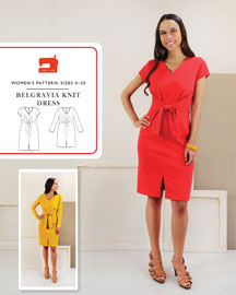 digital belgravia knit dress sewing pattern