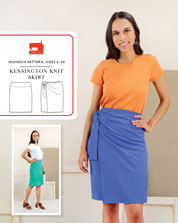 kensington knit skirt sewing pattern