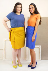 digital kensington knit skirt sewing pattern