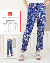digital montauk trousers sewing pattern