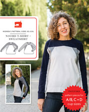 noord t-shirt + sweatshirt sewing pattern