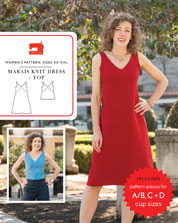 digital marais knit dress + top sewing pattern