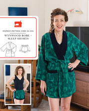 digital wynwood robe + sleep shorts sewing pattern