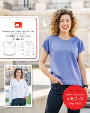 digital verdun woven t-shirt sewing pattern