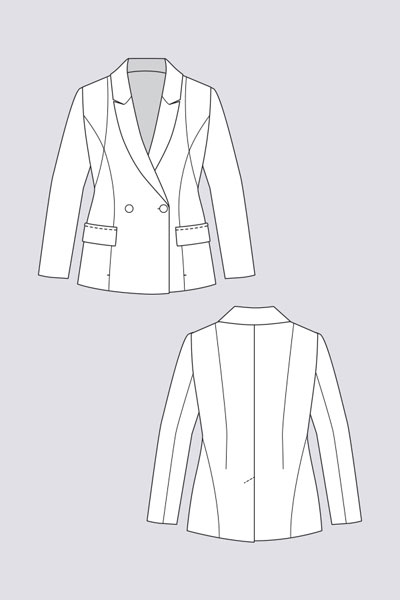 Digital Aava Tailored Blazer Sewing Pattern | Shop | Oliver + S