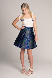 digital eleonora pleated mini skirt sewing pattern