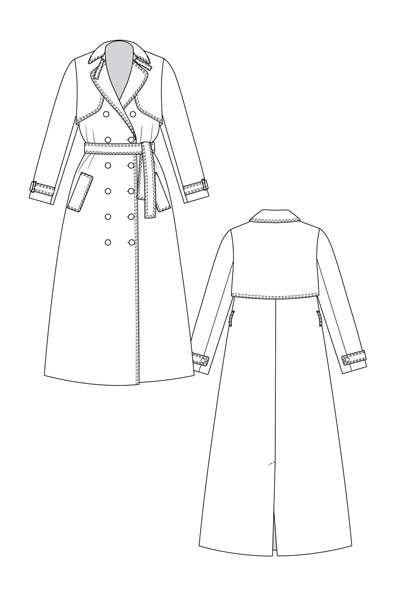 Digital Isla Trench Coat Sewing Pattern | Shop | Oliver + S