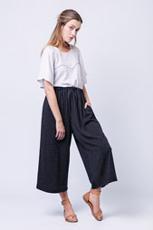 digital ninni elastic waist culottes sewing pattern